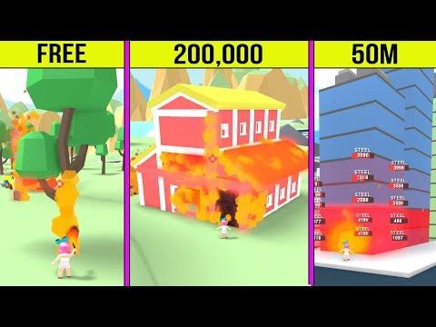 Roblox: BURNING DOWN 50,000,000 DOLLAR BUILDINGS!