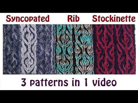 Brioche knitting *Medallion* knitting patterns