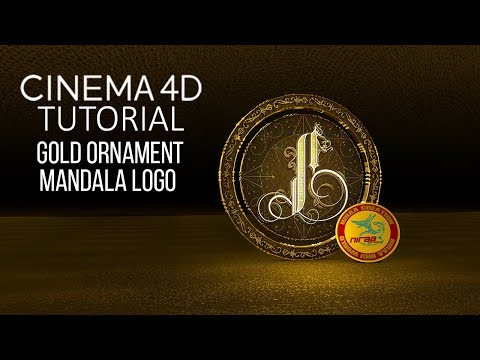 CINEMA 4D GOLD ORNAMENT MANDALA LOGO TUTORIAL