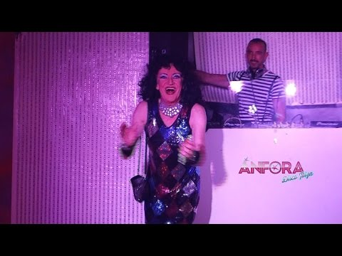 Anfora Disco Ibiza · Eric Bette Davis · She Works Hard For The Money  · Disco Fever Drag Queen Show