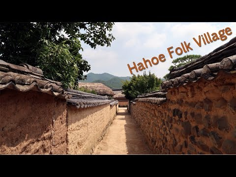 WORLD HERITAGE Historic Village of Korea, Hahoe Folk Village - Where Queen Elizabeth II visited.