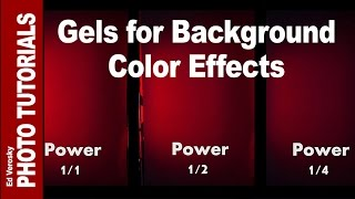 Creating Background Color with Gels and Flash