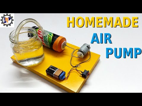How to make a Simple Air compressor using Motor For School Science Project