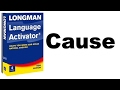 English Vocabulary And Structure Langman Language Activtor Cause mp3