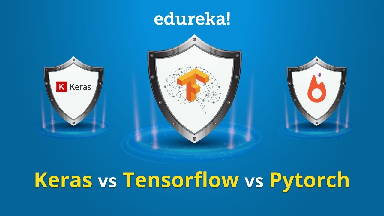 Keras vs Tensorflow vs PyTorch | Deep Learning Frameworks Comparison |  Edureka