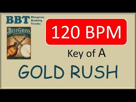 Gold Rush - 120 BPM bluegrass backing track