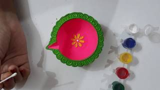 Easy and quick Diya decoration idea for diwali/ beautiful Diya decoration idea | question bank