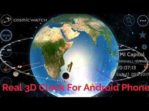 Cosmic Watch|| Real 3D Clock For Android Phone|| By Android Apps ||