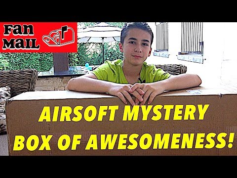 2017 Evike Box Of Awesomenes - Airsoft Mystery Box And READING FAN MAIL!