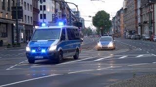 Großeinsatz in Frankfurt Polizei und Rettungsdienst aus allen Richtungen
