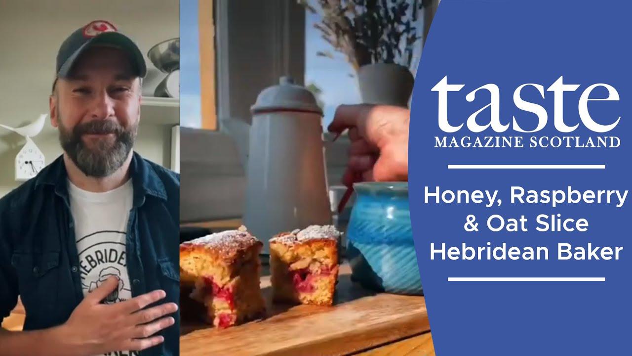 Honey, Raspberry & Oat Slice Recipe