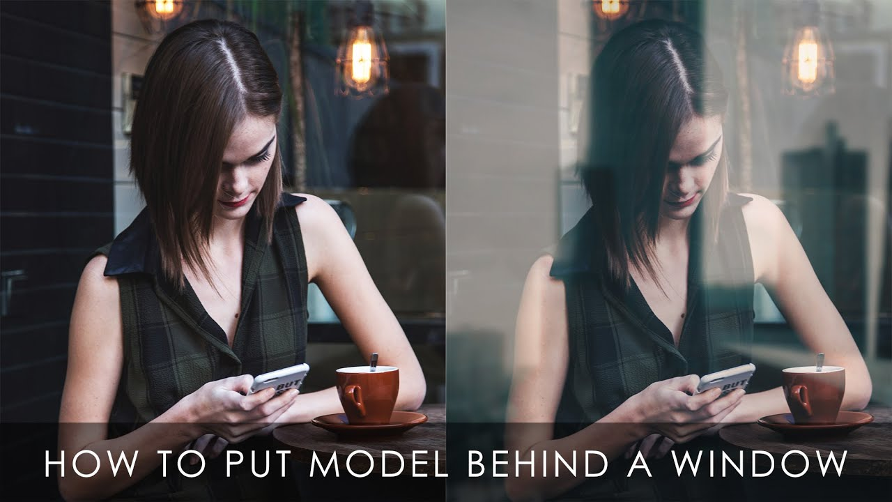 How to put a model behind a window | Photoshop tutorial