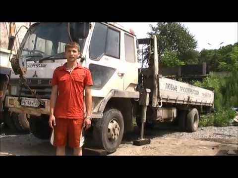 Загорелись задние колеса грузовика Fuso Fighter
