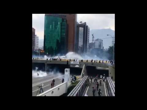 Tear Gas and Water Cannons Fired at Caracas Protesters