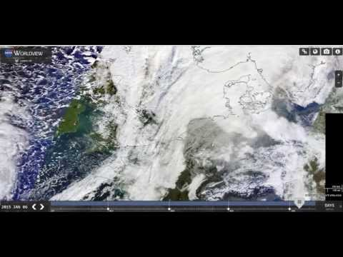 Massive Chemtrail NASA Satellite Evidence UK Channel Jan 6th 2015