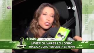 Javier Olivares logró trabajar como periodista en Miami