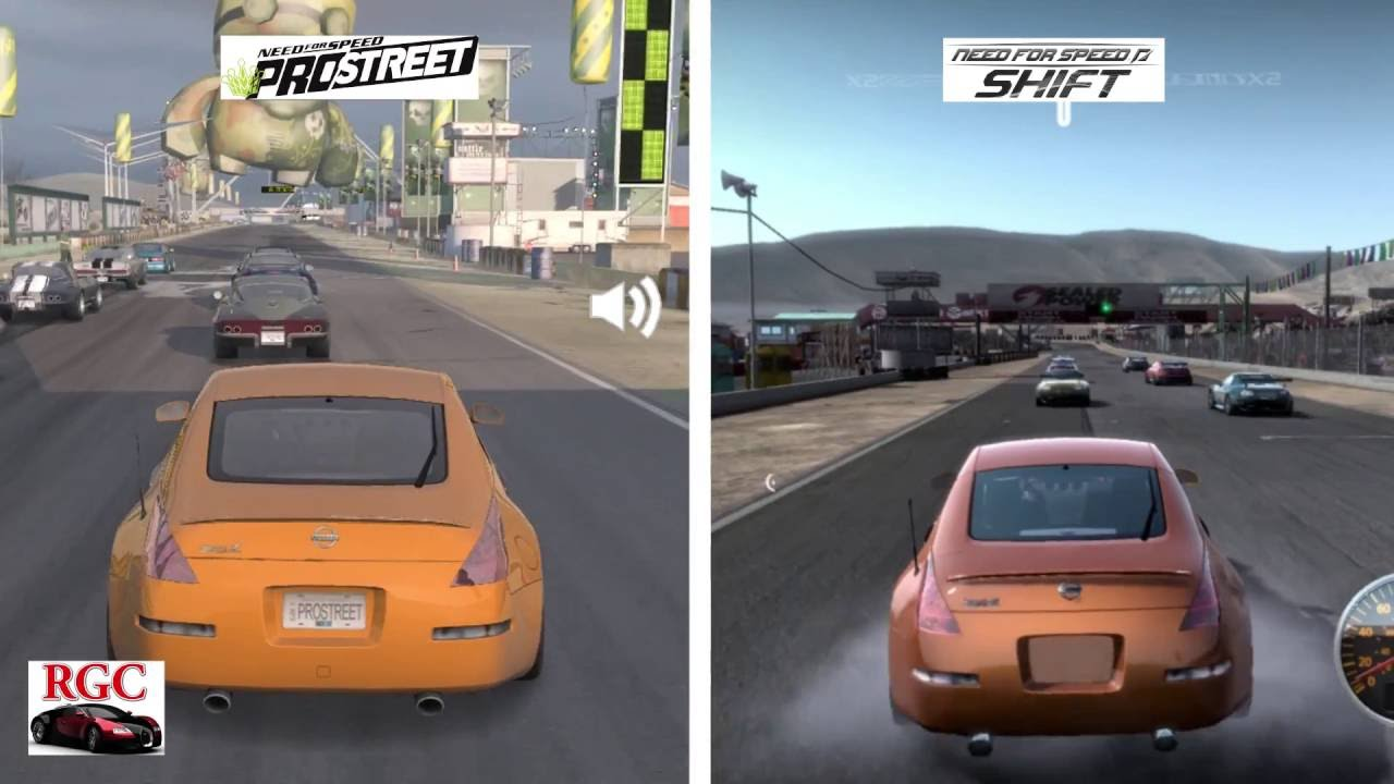 Need For Speed ProStreet Vs Shift
