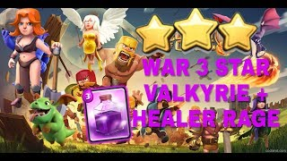 NEW 2018 best TH 9 Valkries healer +rage clash of clan 3 stars strategy[Droid Nation]