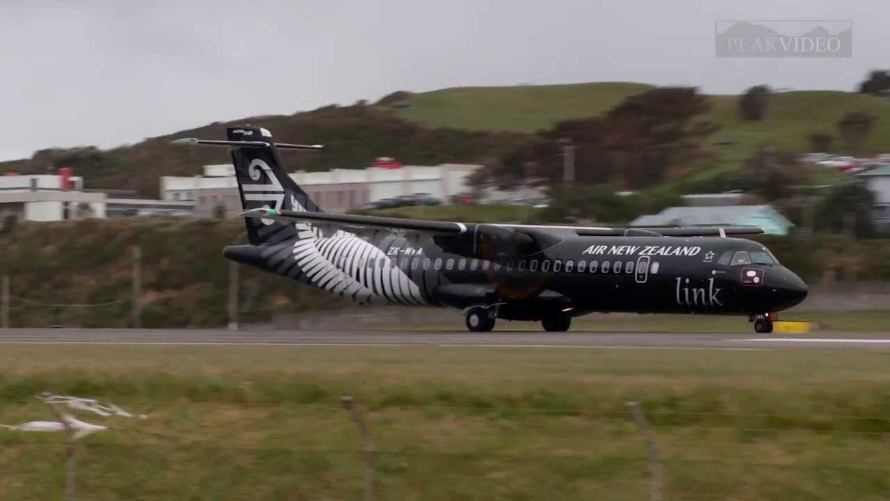 Close up view of Wellington planes taking off and landing ...