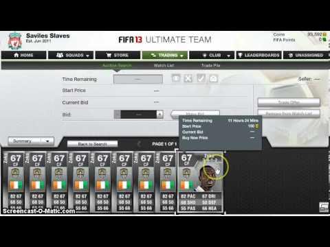 Fifa 13 Ultimate Team - PRICE LOCKING