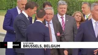 Η αστάθεια του Γιούνκερ στη Σύνοδο του ΝΑΤΟ thumbnail