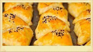 Пирожки треугольники с мясом и картошкой!