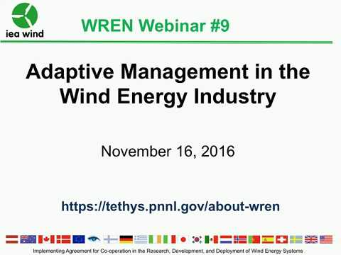 WREN Webinar #9: Adaptive Management in the Wind Energy