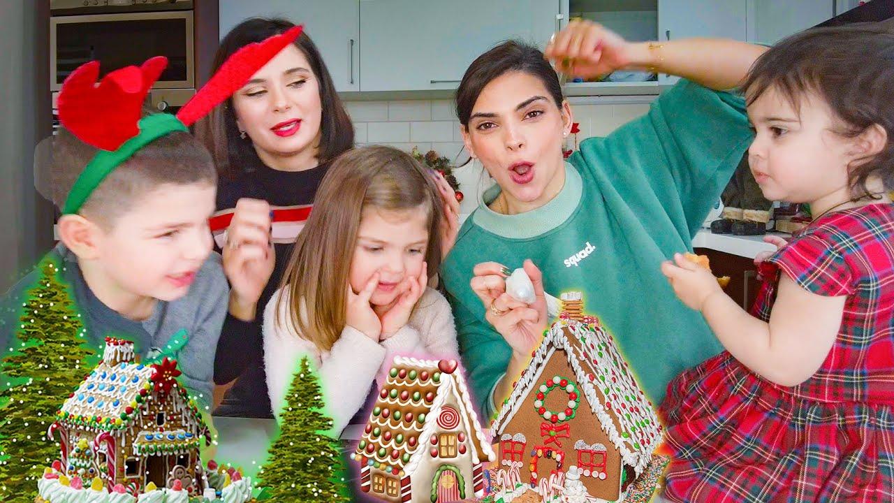 Gingerbread House/თაფლაკვერი სახლის აწყობა ოჯახთან ერთად
