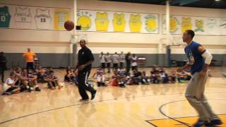 Steph and Dell Curry Play P.I.G. at #SplashBrothers Clinic
