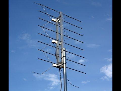 Homemade Gray-Hoverman TV antenna