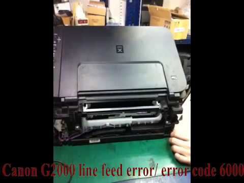 Canon G2000 error 6000 repair/ broken carriage motor
