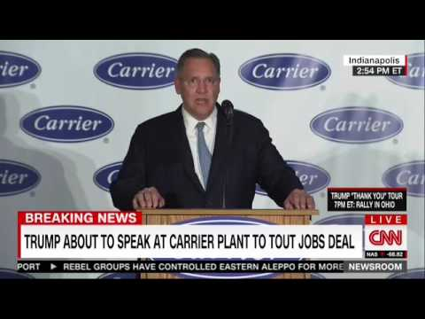 United Technologies CEO: Confidence In Donald Trump Is Why Jobs Are Staying In Indiana