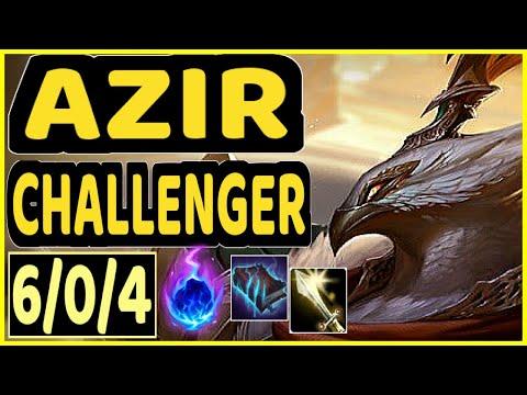 STROMPEST (AZIR) - 6/0/4 KDA CHALLENGER GAMEPLAY - NA