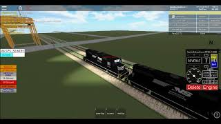 NS & BNSF power moves pass each other (roblox UP railroad game)