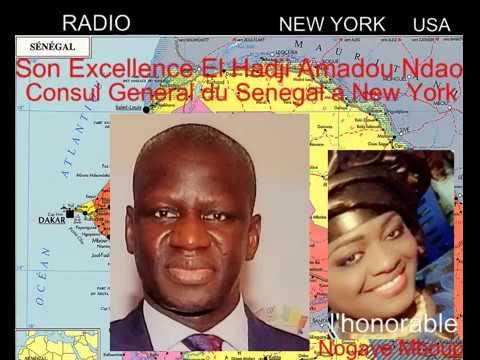 Son Excellence Elhadji Amadou Ndao Consul General du Senegal a New York a Radio Senegal/New York