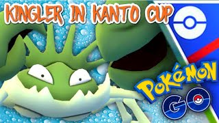 Shiny Kingler brings the Crabhammer down in Kanto Cup for GO Battle League in Pokemon GO