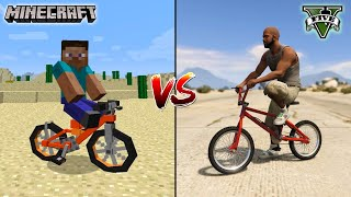 MINECRAFT BMX VS GTA 5 BMX - WHICH IS BEST?