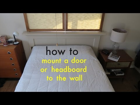 How to ● Easily Attach a Headboard to the Wall with a French Cleat