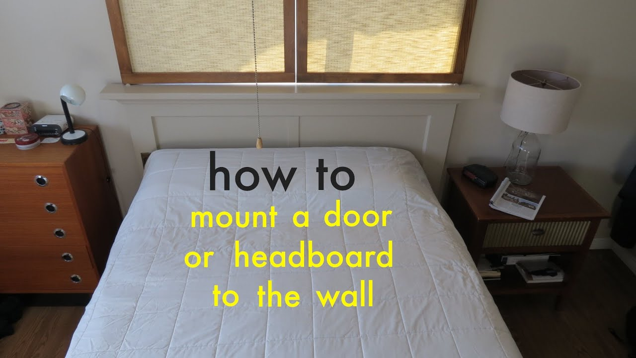 How to  Easily Attach a Headboard to the Wall with a French Cleat - YouTube