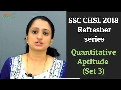 SSC CHSL 2018 - Refresher series | Quantitative Aptitude (Set 3) | TalentSprint