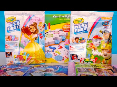 Coloring With Magic Ink and Disney Princesses Dress Design C