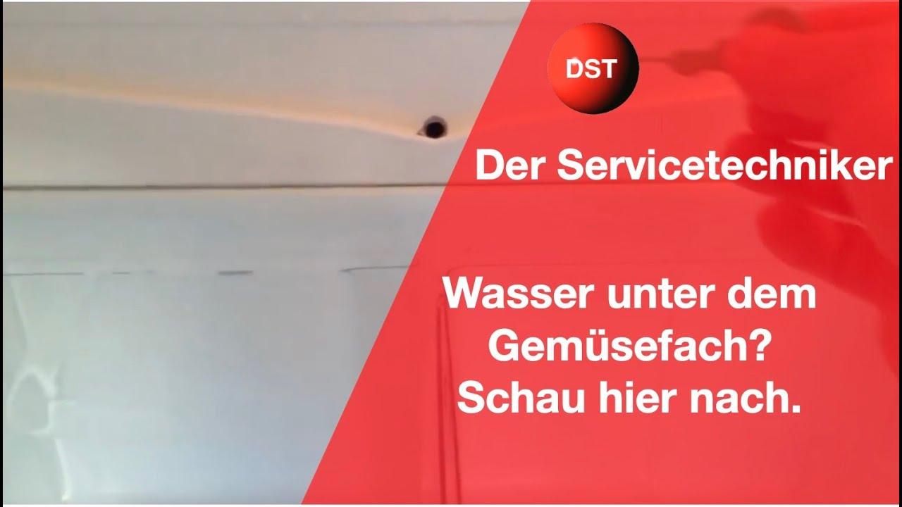 Siemens Kühlschrank Wasser Unter Gemüsefach : Wenn wasser im kühlschrank steht: wasser unter dem gemüsefach youtube