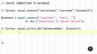 Tutorial 3 - Connecting To A MySQL Database