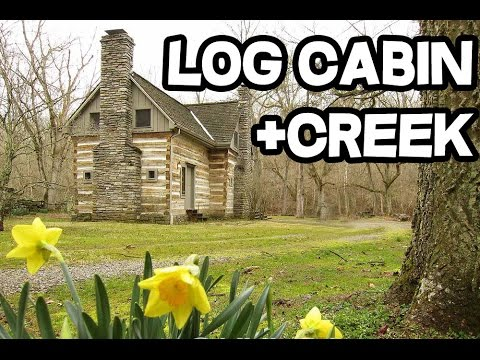 Artist Retreat, Sugar Creek Log Cabin 23 acres, stream, creek, Kentucky