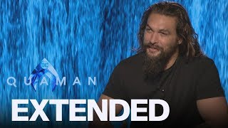Jason Momoa Reveals He's Waiting To See 'Aquaman' | EXTENDED