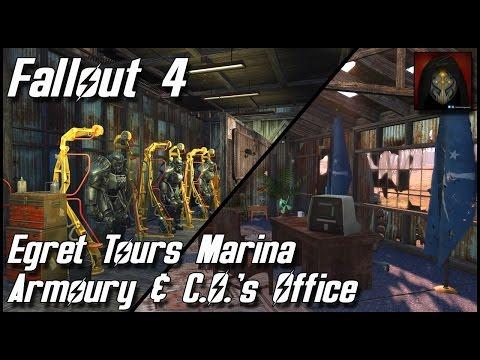 Fallout 4 - Egret Tours Marina Settlement - River Patrol Station: Armory & C.O.'s Quarters