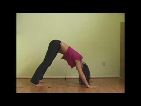 5 Min Yoga Back Stretching Workout Fitness Training, Exercise w Emmy
