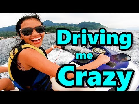 Filipina First Ever Jet Ski Experience | Puerto Galera Philippines