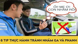 Hướng dẫn lái xe số tự động dành cho người mới lái - 6 Tips tránh nhầm chân GA và PHANH | Autodaily