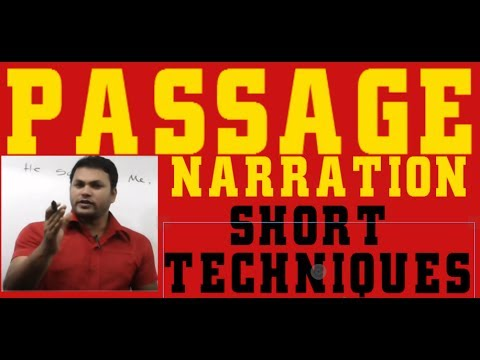 Passage Narration part 1 - Learn English Grammar- Direct spe